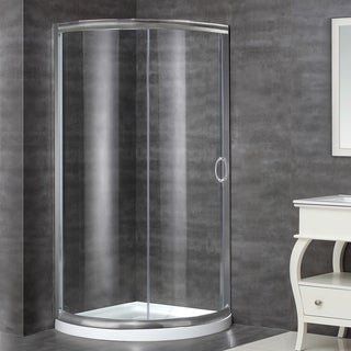 Aston Stainless Steel 40 x 40-inch Round Shower Enclosure with Base