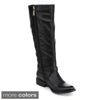 DBDK Women's 'Chery-3' Buckle Riding Knee-high Boots
