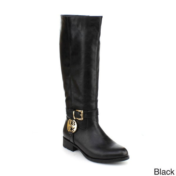 DBDK Women's 'Georgia-2' Buckled Ankle Strap Knee-high Boots