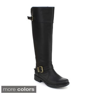DBDK Women's 'Kanna-4' Faux Leather Riding Knee-high Boots