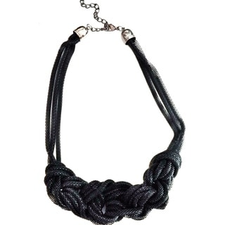 Pretty Little Style Black Chain Braid Necklace