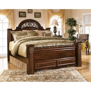 Signature Design by Ashley Gabriela Reddish Brown Poster Storage Bed