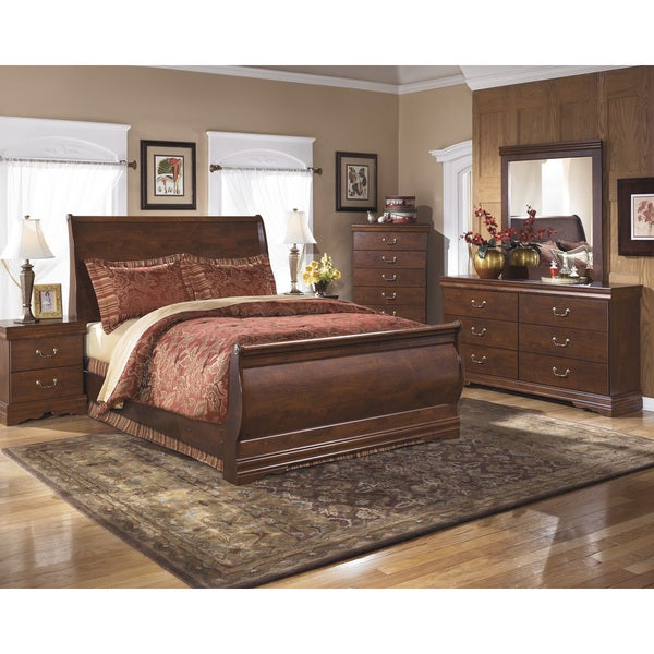 signature design by ashley sleigh bed 1