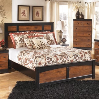 Signature Design by Ashley Aimwell Warm Brown Panel Bed