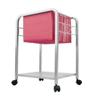 Silver Hanging File Cart on Casters