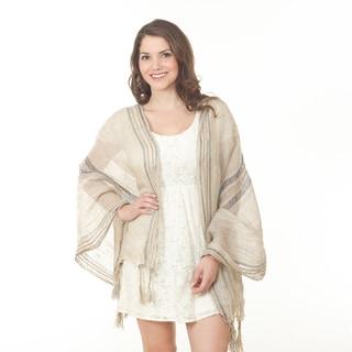 Striped Linen Shawl