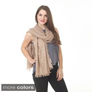 Women's Shimmering Fringed Classic Shawl