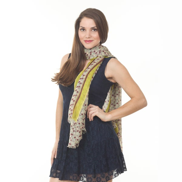 Women's Multi Dot Wool Shawl