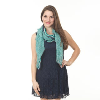 Women's Green Circle Wool Shawl