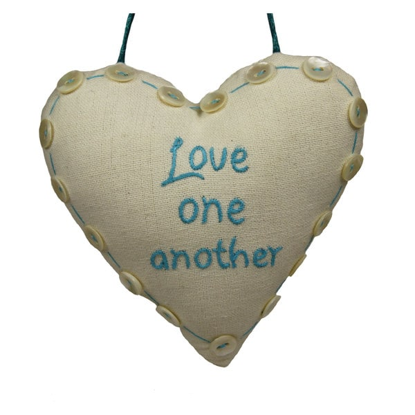 Handmade 'Love One Another Decorative' Sign (India)