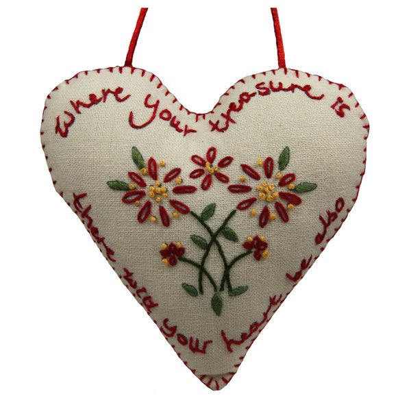 Handmade 'Treasure Heart' Decorative Sign (India)