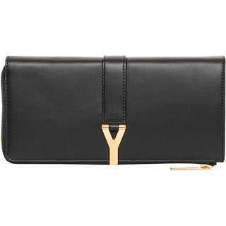 Saint Laurent Black 'Y' Line Zip-around Wallet