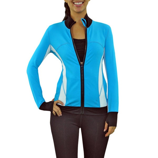 Women's Briana Funnel Neck Zip Front Running Jacket