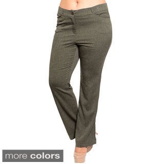 Stanzino Women's Plus Size Boot-cut Slacks