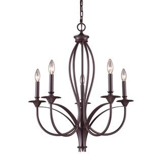Elk Lighting 'Medford' 5-light Oil-rubbed Bronze Chandelier
