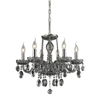 Elk Lighting Balmoral 6-light Smoke-plated Crystal Chandelier
