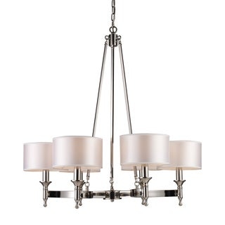 Elk Lighting 'Pembroke' 6-light Polished Nickel Chandelier