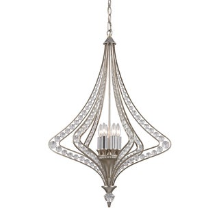 Elk Lighting 'Ventoux' 6-light Indoor Satin Silver Chandelier