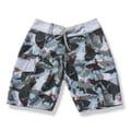Boys 'Shark Attack' Blue and Grey Board Shorts
