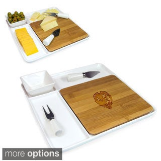 Picnic Time NFL AFC Teams Peninsula Cutting Board Serving Tray with Cheese Tools