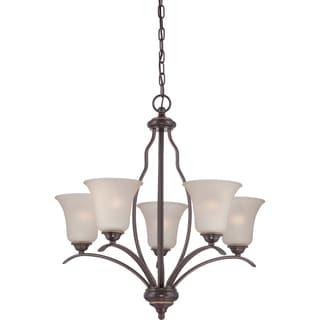 Ventura 5-light Palladian Bronze Chandelier