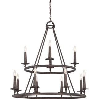 Voyager 12-light Malaga Two-tier Chandelier