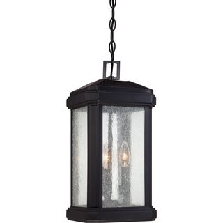 Trumbull 3-light Mystic Black Large Hanging Lantern