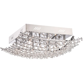 Valla 9-light Polished Chrome Extra Large Flush Mount