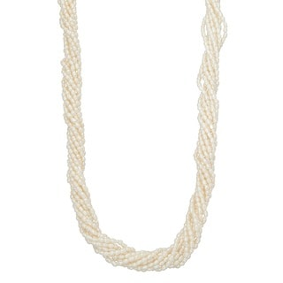 Sterling Silver Freshwater Pearl Twist Necklace (2 mm)