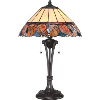 Sea Shell 2-light Western Bronze Tiffany Table Lamp