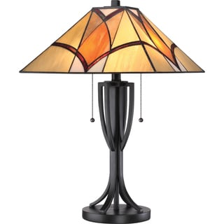 Tiffany 2-light Sunrise Valiant Bronze Table Lamp