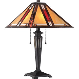 Tiffany 2-light Arlington Imperial Bronze Table Lamp