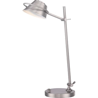 Vivid Collection Spencer Brushed Nickel LED Desk Lamp