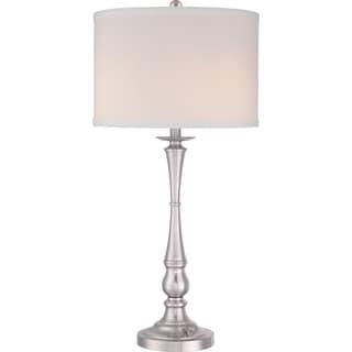 Vivid Ambrose 3-light Brushed Nickel Table Lamp
