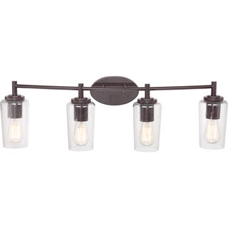 Edison Western Bronze 4-light Bath Fixture