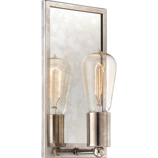 Echo Muted Silver Edison-style 1-light Pocket Wall Sconce