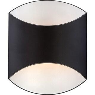 Sheath Mystic Black 1-light Pocket Wall Sconce