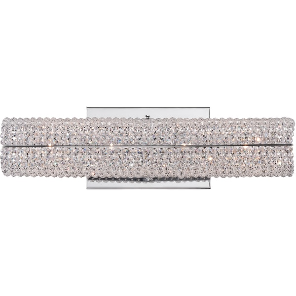 Evermore Polished Chrome And Crystal 4 Light Bath Fixture 16608870 Shopping