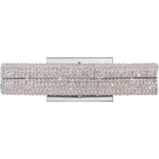 Evermore Polished Chrome and Crystal 4-light Bath Fixture