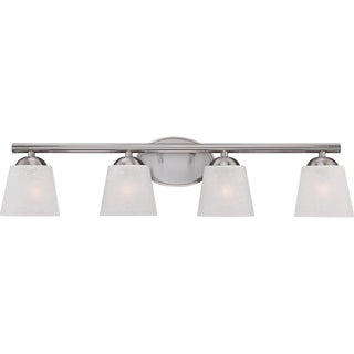 Stowe Brushed Nickel 4-light Bath Fixture