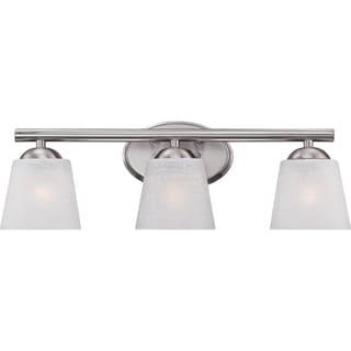Stowe Brushed Nickel 3-light Bath Fixture