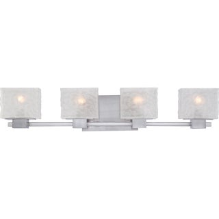Quoizel 'Melody' 4-light Brushed Nickel Bath Vanity