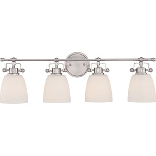 Quoizel 'Bower' 4-light Brushed Nickel Bath Vanity