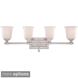 Quoizel 'Nicholas' 4-light Brushed Bath Vanity