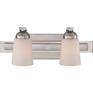 Quoizel 'Cannon' 2-light Brushed Nickel Bath Vanity