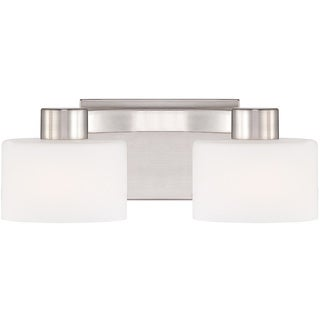 Tatum Brushed Nickel 2-light Bath Vanity