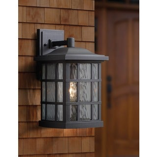 Quoizel 'Stonington' 1-light Mystic Black Large Wall Lantern