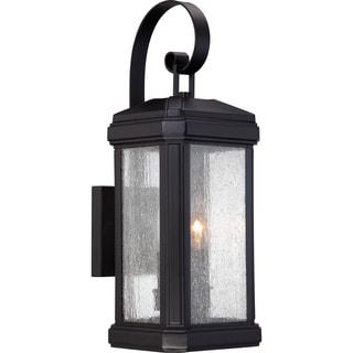 Quoizel 'Trumbull' 2-light Mystic Black Medium Wall Lantern