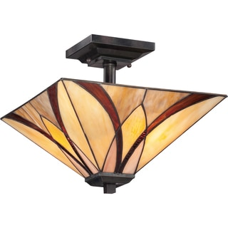 Asheville 2-light Valiant Bronze Medium Semi Flush Mount