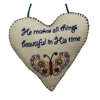 Handmade 'All Things Beautiful' Decorative Sign (India)